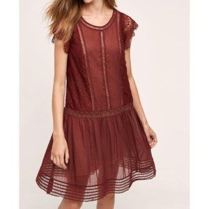 NEW Anthro Floreat sweetwater red lace dress